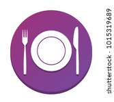 fork  knife and plate sign....   Shutterstock .eps vector #1015319689