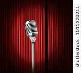 stage curtains with shining... | Shutterstock .eps vector #1015320211
