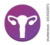 human anatomy. uterus sign.... | Shutterstock .eps vector #1015322071