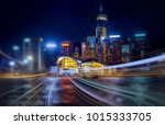 double exposure with traffic... | Shutterstock . vector #1015333705