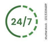 24 7 vector icon. | Shutterstock .eps vector #1015334689