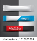 foil or paper packaging stick... | Shutterstock .eps vector #1015335724