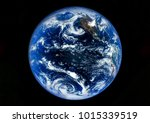 earth globe isolated on black...