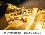 original gold mask of the... | Shutterstock . vector #1015342117