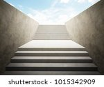 staircase going up  successful... | Shutterstock . vector #1015342909