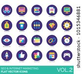 seo flat icons. readability... | Shutterstock .eps vector #1015346881