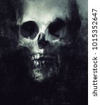 scary skull isolated on black... | Shutterstock . vector #1015352647