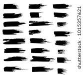 grunge ink brush strokes set....   Shutterstock .eps vector #1015357621
