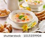 white borscht  polish easter... | Shutterstock . vector #1015359904