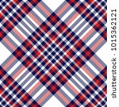 plaid check pattern in red ... | Shutterstock .eps vector #1015362121