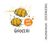 gnocchi pasta. italian cuisine. ... | Shutterstock .eps vector #1015362361