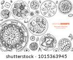 oriental sweets vector...   Shutterstock .eps vector #1015363945
