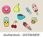 set of fashion patches  cute... | Shutterstock .eps vector #1015364839