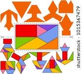 vector tangram sphinx ... | Shutterstock .eps vector #1015367479