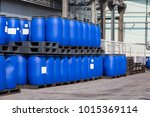 Blue Plastic Storage Drums...