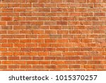 red brick wall of 1940s house | Shutterstock . vector #1015370257