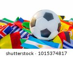 classic leather soccer ball...   Shutterstock . vector #1015374817