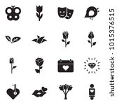solid black vector icon set  ... | Shutterstock .eps vector #1015376515