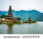 ulun danu temple bedugul   Shutterstock . vector #1015379575