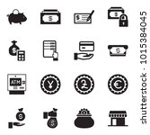 solid black vector icon set  ... | Shutterstock .eps vector #1015384045