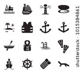 solid black vector icon set  ... | Shutterstock .eps vector #1015384861