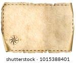 treasure blank map isolated... | Shutterstock . vector #1015388401