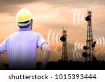 telecommunication engineer...   Shutterstock . vector #1015393444