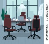 empty office without workers in ...   Shutterstock .eps vector #1015395034