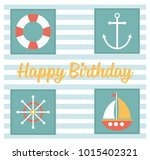 happy birthday greeting card .... | Shutterstock .eps vector #1015402321