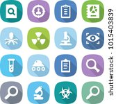 flat vector icon set   search... | Shutterstock .eps vector #1015403839