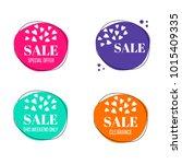 vector set of sale banners.... | Shutterstock .eps vector #1015409335