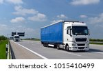 truck transports goods by road  ... | Shutterstock . vector #1015410499