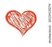valentine s day hand drawn red... | Shutterstock . vector #1015415074