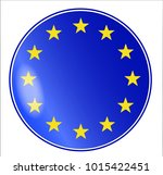 flag of the european union with ... | Shutterstock . vector #1015422451