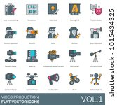 video production icons.... | Shutterstock .eps vector #1015434325