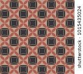 seamless geometric pattern in... | Shutterstock .eps vector #1015435024