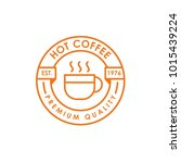 coffee shop logo template | Shutterstock .eps vector #1015439224