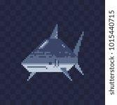 shark sea predatory fish... | Shutterstock .eps vector #1015440715
