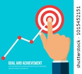 goals and achievement concept.... | Shutterstock .eps vector #1015452151