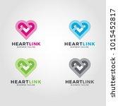 heart link logo template | Shutterstock .eps vector #1015452817