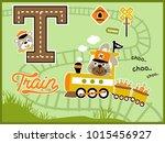 cartoon vector of harvest... | Shutterstock .eps vector #1015456927