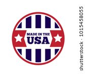 vector set of made in the usa... | Shutterstock .eps vector #1015458055