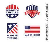vector set of made in the usa... | Shutterstock .eps vector #1015458061