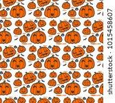 vector of orange halloween...   Shutterstock .eps vector #1015458607