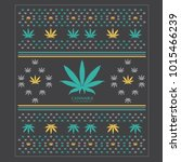cannabis marijuana patturn... | Shutterstock .eps vector #1015466239
