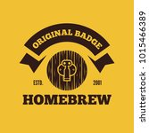 retro vintage logo  badge ... | Shutterstock .eps vector #1015466389