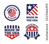 vector set of made in the usa... | Shutterstock .eps vector #1015466395
