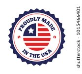 vector set of made in the usa... | Shutterstock .eps vector #1015466401