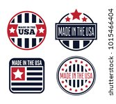 vector set of made in the usa... | Shutterstock .eps vector #1015466404