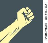 superhero hand template. vector ... | Shutterstock .eps vector #1015468165